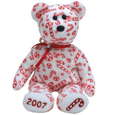Ty Beanie Babies Candy Canes - Bear White (Hallmark Exclusive)