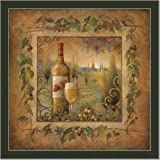 Tuscan Wine Country Ii Kitchen Decor Art Print Framed