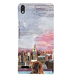 EPICCASE City View Mobile Back Case Cover For Huawei Ascend P6 (Designer Case)