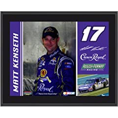 Matt Kenseth Plaque | Details: #17 Crown Royal Car, Roush Fenway Racing, Sublimated,... by Mounted Memories