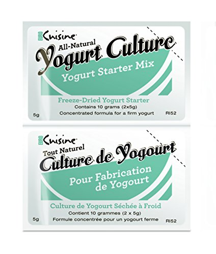 Euro Cuisine RI52 All Natural Yogurt Culture ( 2 - 5gr Packet with New Packaging) (Starter Cultures compare prices)