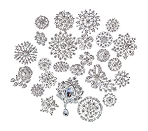 Mon Coeur bridal and wedding Lot 25pc brooch button bouquet kit