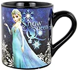 Silver Buffalo DP9132Z Disney Frozen Snow Queen Laser-Printed Ceramic Mug, 14 oz., Black