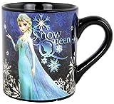 Silver Buffalo DP9132Z Disney Frozen Snow Queen Laser-Printed Ceramic Mug, 14 oz., Black