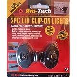 2 PIECE CLIP ON LED LIGHT LIGHTS GLASSES READINGby Amtech