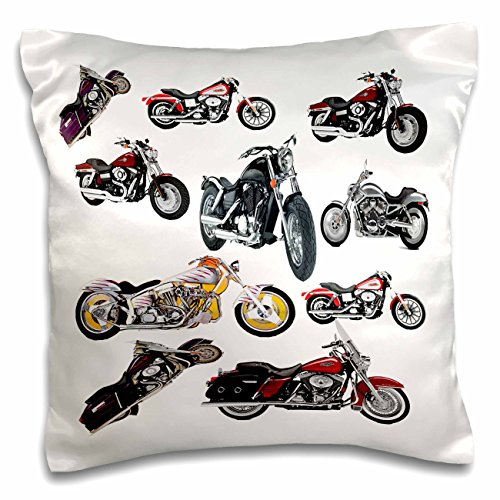 3dRose pc_5730_1 Pillow Case Picturing Harley-Davidson® Motorcycles
