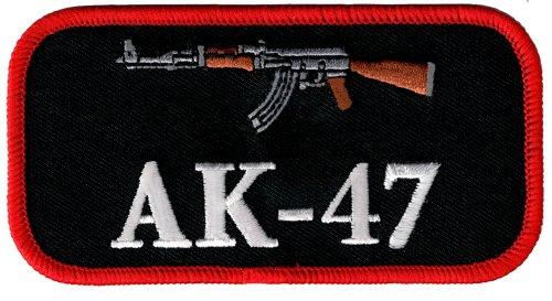 AK-47 Embroidered Patch Iron-On 2nd Amendment Gun Kalashnikov Assault Rifle (47 Emblem compare prices)