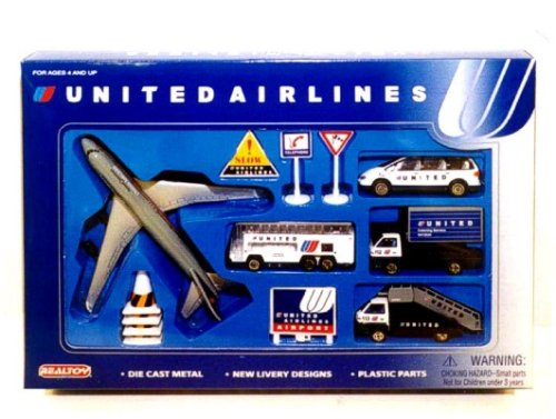 United Airlines Airport 13 Piece Play Set - Buy United Airlines Airport 13 Piece Play Set - Purchase United Airlines Airport 13 Piece Play Set (Real Toy, Toys & Games,Categories,Play Vehicles,Vehicle Playsets)