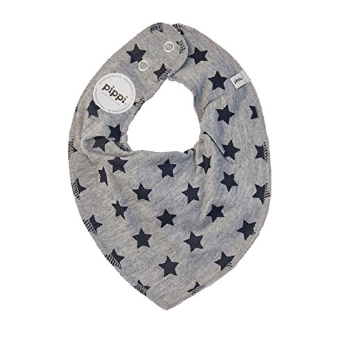 Premium HALSTUCH Dreieckstuch mit Sterne Baby Kinder grau blau