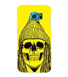 Skull with a Cap 3D Hard Polycarbonate Designer Back Case Cover for Samsung Galaxy S6 Edge+ :: Samsung Galaxy S6 Edge Plus :: Samsung Galaxy S6 Edge+ G928G :: Samsung Galaxy S6 Edge+ G928F G928T G928A G928I