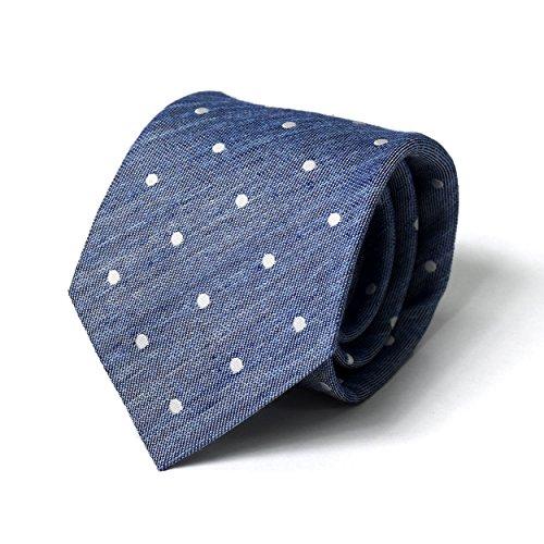 (スミスアンドスコット) Smith & Scott 全15柄 日本製 メンズ ビジネス ジャガード織 リネン シルク ネクタイ ストライプ柄 小紋柄 ドット柄 国産 ネクタイ 09
