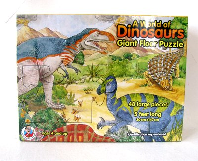 Picture of Frank Schaffer New Frank Schaeffer A World of Dinosaurs Giant 48 Pc 5 Ft Long Floor Puzzle Ages 4+ (B003EUAV6Q) (Floor Puzzles)