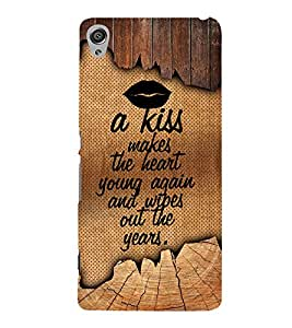 A Kiss Makes The Heart Young 3D Hard Polycarbonate Designer Back Case Cover for Sony Xperia XA :: Sony Xperia XA Dual