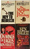img - for 4 Novels by Ken Follett: The Key to Rebecca / The Man From St. Petersburg / On Wings of Eagles / Pillars of the Earth book / textbook / text book