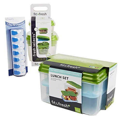 adult-healthy-living-kit-with-pill-organizer-5-reusable-lunch-containers-by-fit-fresh