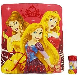 Princess Disney PolarFleece Blanket NOT Duvet Rapunzel Belle Sleeping Beauty