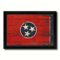 Tennessee State Vintage Flag Art Collection Western Shabby Cottage Chic Interior Design Office Wall Home Decor Gift Ideas, 27\