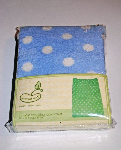 Printed Coral Changing Table Cover Blue front-1052869