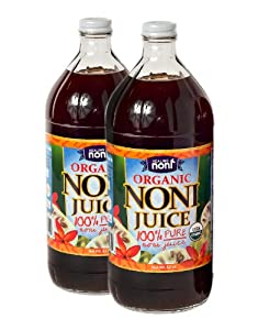 Organic Hawaiian Noni Juice - Pack of 2 X 32oz Glass Bottles