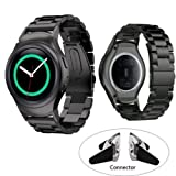 MiniEsting(TM) Stainless Steel Band Strap&Connectors For Samsung Galaxy Gear S2 SM-R720 Watch