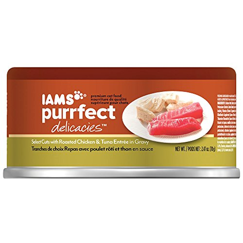 Iams Purrfect Delicacies Select Cuts With Roasted Chicken & Tuna Entrée