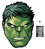 Mask Pack - Hulk from Marvel's The Avengers Single Card Party Face Mask includes 6x4 inch (15cm x 10cm) Star Photo