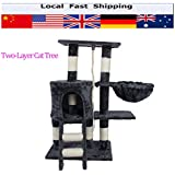 Alcoa Prime TWO-LAYER Hot Cat Jumping Toy With Ladder Scratching Wood Climbing Tree For Cat Climbing Frame Cat Furniture Scratching Post