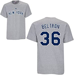Carlos Beltran New York Yankees Grey Player T-Shirt by Majestic by Majestic