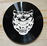 Quality machined black aluminium JAGUAR GROWLER slot-in tax disc holder