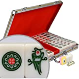 Professional Chinese Mahjong Set w/ Aluminum Case - Large