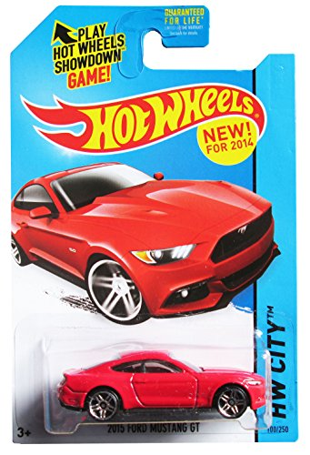 Hot wheels 2015 Ford Mustang GT RED new for 2014 hw city 100/250 - 1