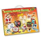 Folia Bastel-Papier-Koffer Weihnachten, 110-teiliges Bastelset