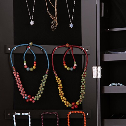 LANGRIA-Free-Standing-Lockable-Full-Length-Mirrored-Jewelry-Cabinet-Armoire-with-Angle-Adjustable-Organizer-Storage-for-Rings-Earrings-Bracelets-Broaches