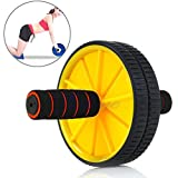 TOTAL BODY FITNESS WORKOUT - Ab Roller Ab Wheel Abdominal Workout Roller For Ab Exercises. CUSHIONED HANDLES....