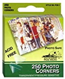 Pioneer Photo Corners Self Adhesive, 250/Pkg, Clear