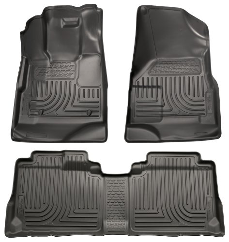 Husky Liners Custom Fit Front and Second Seat Floor Liner Set for Select Chevrolet Equinox/GMC Terrain Models (Black)