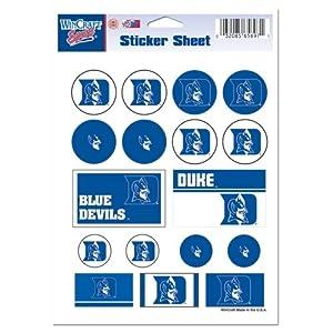Buy Duke Blue Devils Official NCAA 5x7 Sticker Sheet by WinCraft