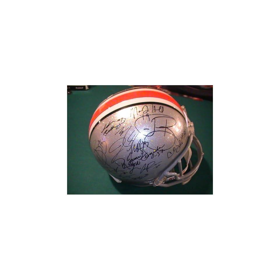 Ohio State Buckeyes Team Signed Autographed Full Size Helmet Tressel