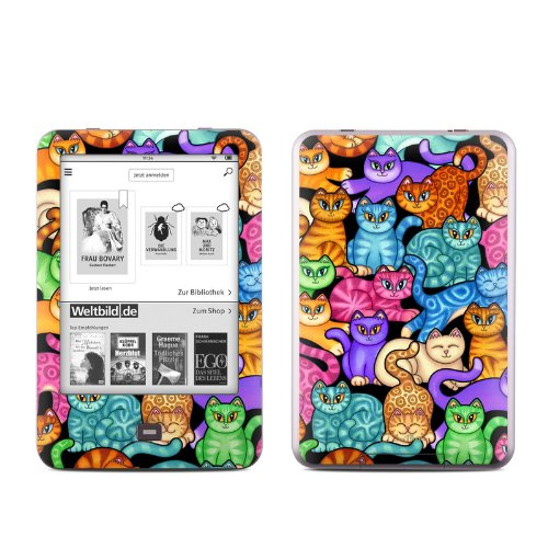colorful-kittens-design-protective-decal-skin-sticker-matte-satin-coating-for-tolino-shine-e-book-reader