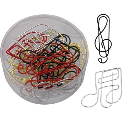 G-Clef And Note Paper Clip (Assorted Colors 15 & Box)