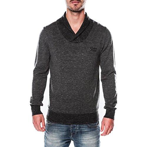 Deeluxe-Maglione con collo a scialle, colore: grigio grigio L