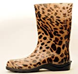 Womens Rain Boot in Zebra and Leopard by Plastex