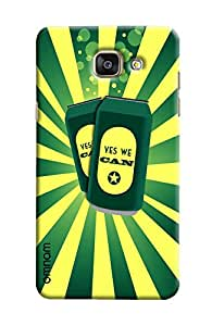 Omnam yes we can printed cans with green yellow combi For Samsung Galaxy A5 2016 (A510)