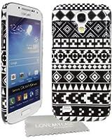 StyleBitz Coque rigide pour Samsung Galaxy S4 Mini / i9190, motif géométrique + protecteur d'écran et tissu de nettoyage (noir/blanc)