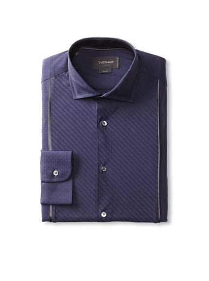 Duchamp Men's Diamond Dobby Dress Shirt