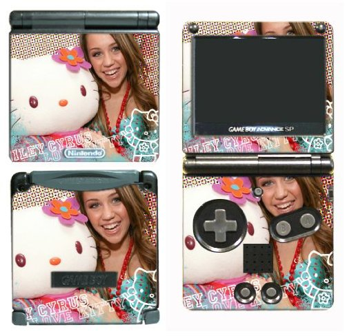 Gamerz Skinz Hannah Montana Miley Cyrus Vinyl Decal Skin Protector Cover 7 For Nintendo Gba Sp Gameboy Advance