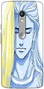 Snoogg Tegaki Shiva 2798 Designer Protective Back Case Cover For Motorola Moto X Play