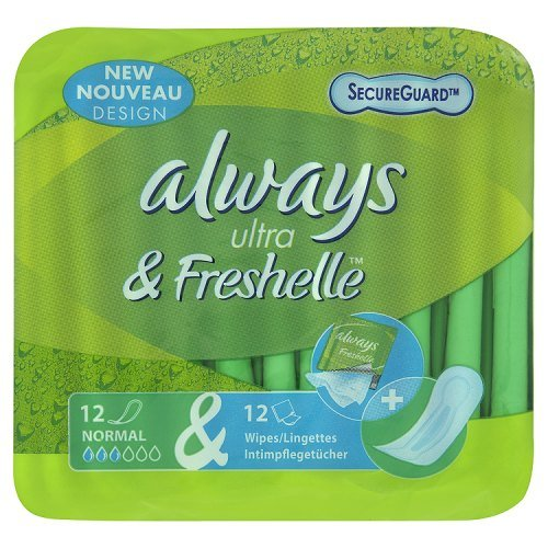 Always Freshelle Ultra Sanitary Towels Normal x 12