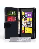 Yousave Accessories Custodia Portafoglio per Nokia Lumia 1020 in PU Pelle, Nero