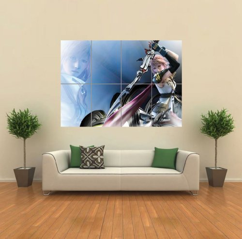 LIGHTNING FINAL FANTASY XIII GIANT POSTER WALL ART PICTURE G870 (Lightning Foto compare prices)